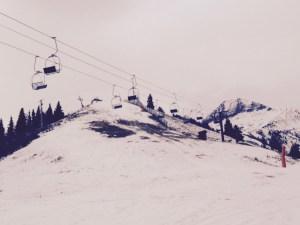 Ce qui reste de la piste de ski.