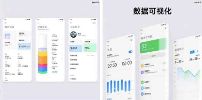 Visual effects and graphical features MIUI 12