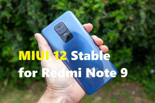 miui 12 global stable for redmi note 9