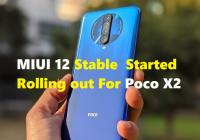 MIUI 12 Stable for Poco X2 in India