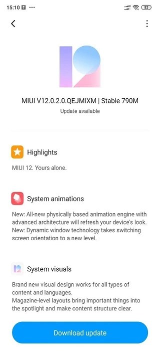 miui 12 for poco f1 rolling out in india