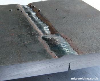 Weaving cap weld