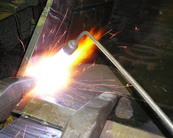 Torch used to preheat hardox prior to welding
