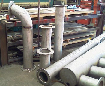 Stainless steel ductwork for an incinerator