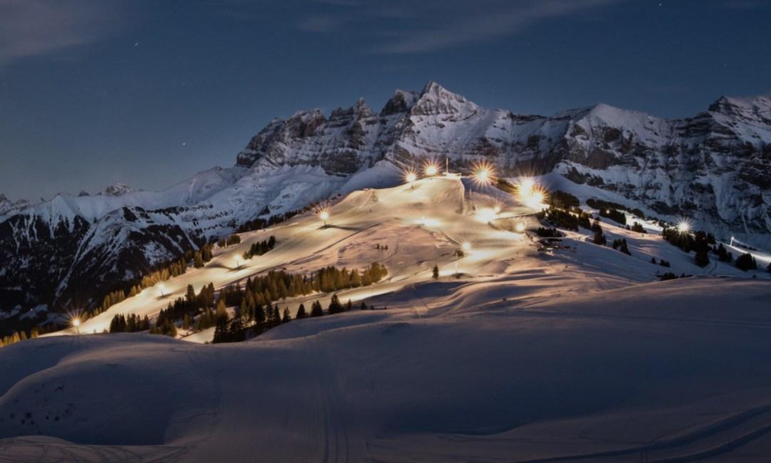 Ski de nuit à Champéry