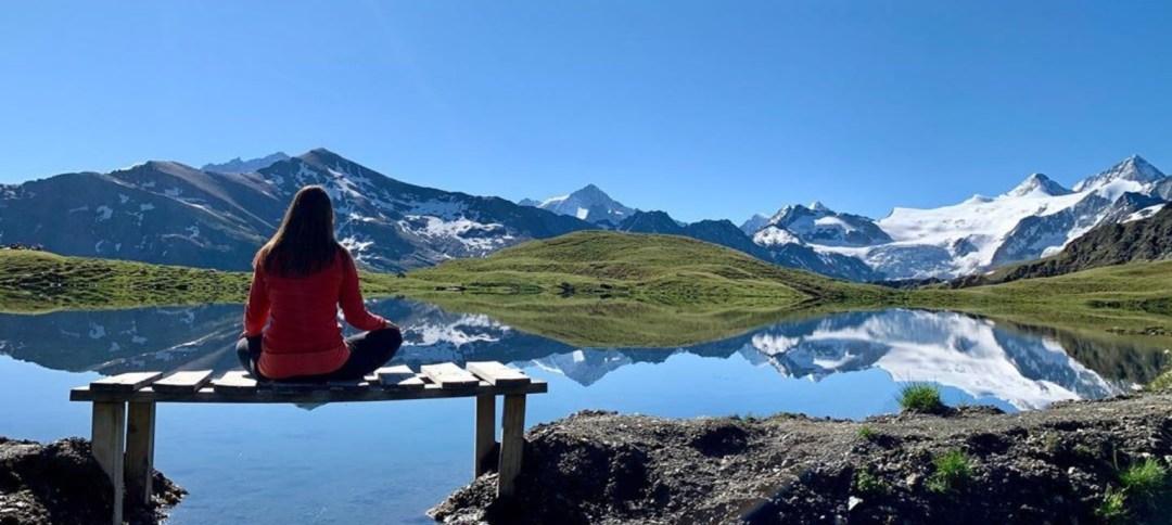 Meditieren am See