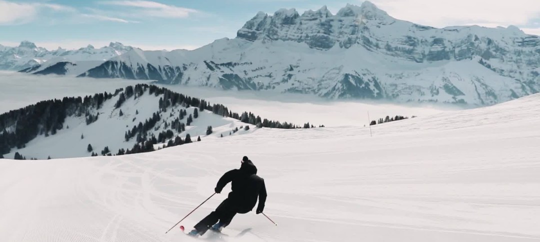 Skiing Dents du Midi