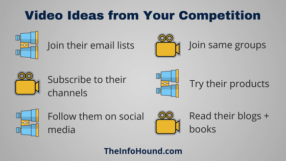 The InfoHound List of Key Video Ideas from Your Competition