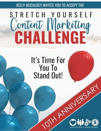 Stretch Yourself Challenge on Content Marketing from Kelly McCausey