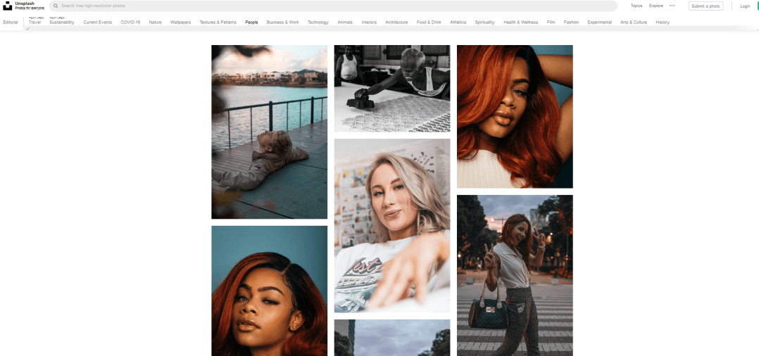 Unsplash Search results people diverse photos marketing