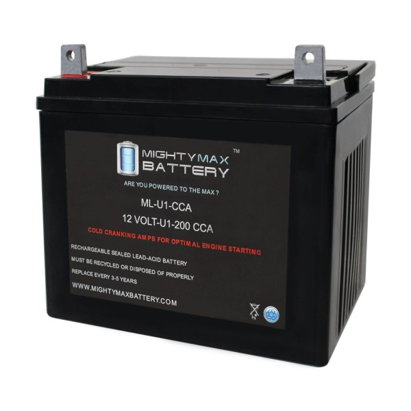 ML-U1 12V 200CCA Battery for Scag Z Cat Zero-Turn Mower Lawn Tractor