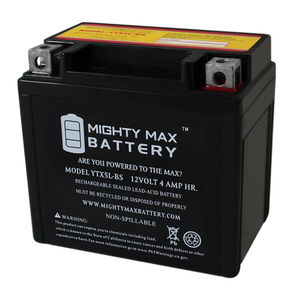 YTX5L-BS Replacement Battery for YAMAHA WR250F 250CC 03-'07