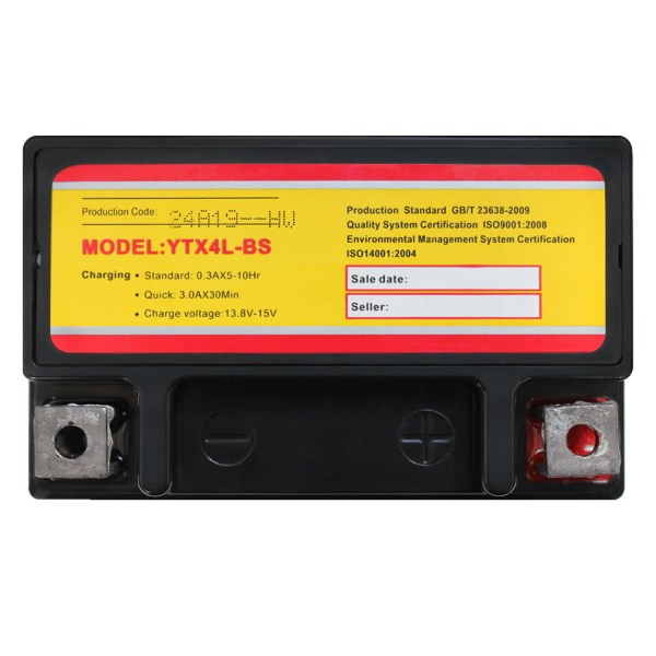 YTX4L-BS Replacement Battery for Suzuki 250 DR250S