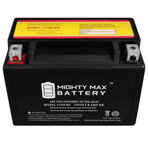 YTX9-BS SLA Battery Replacement for Aprilia Habana Custom 125 99-02