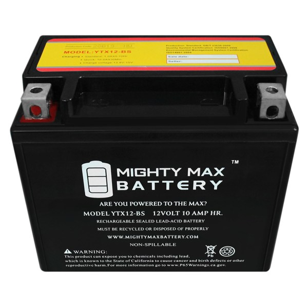 YTX12-BS 12V 10AH Battery for Triumph 1050 Speed Triple, R 2005-2010