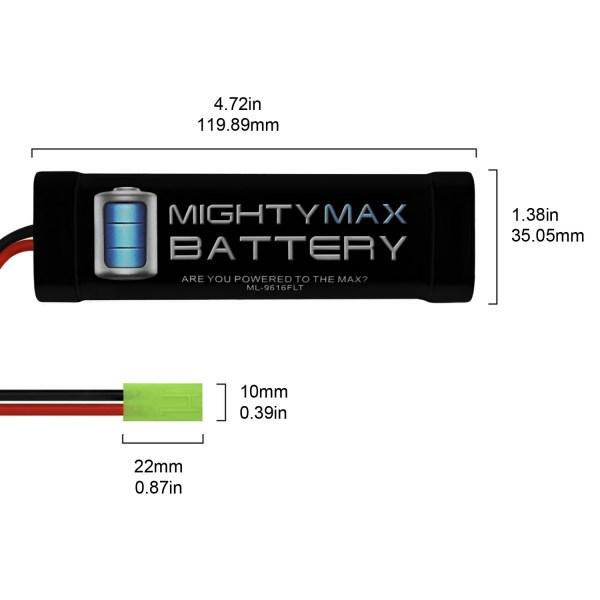 9.6V 1600mAh Flat Battery Pack