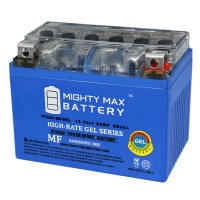 YTX4L-BS 12 VOLT 3 AH GEL MOTORCYCLE BATTERY