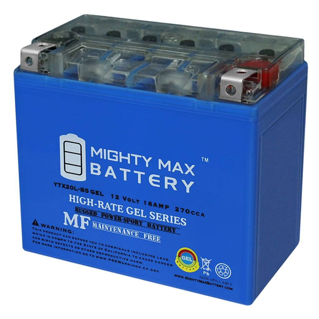 YTX20L-BS GEL 12V 18AH Power Sport Battery