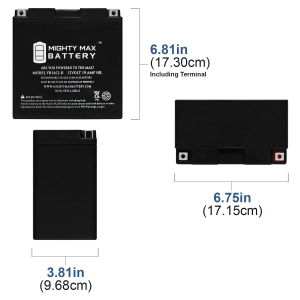 YB16CL-B 12V 19Ah High Performance SLA Battery
