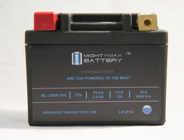 LiFePO4 12V 7-9ah 120CCA PowerSport Battery