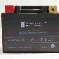 LiFePO4 12V 7-9ah 120CCA PowerSport Battery