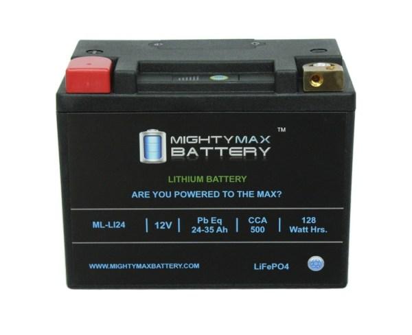 LiFePO4 12V 24-35ah 500 CCA PowerSport Battery