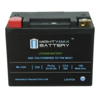 LiFePO4 12V 24-35ah 500 CCA PowerSport Battery