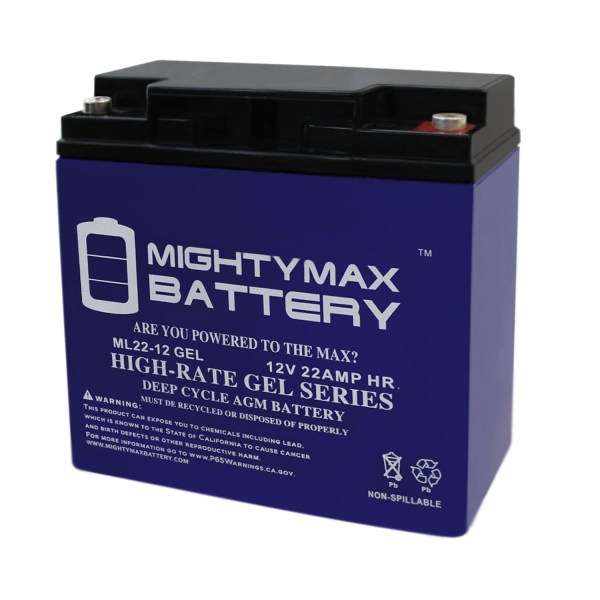 12V 22AH GEL Battery for Golden LiteRider PTC Envy Power Chair GP162