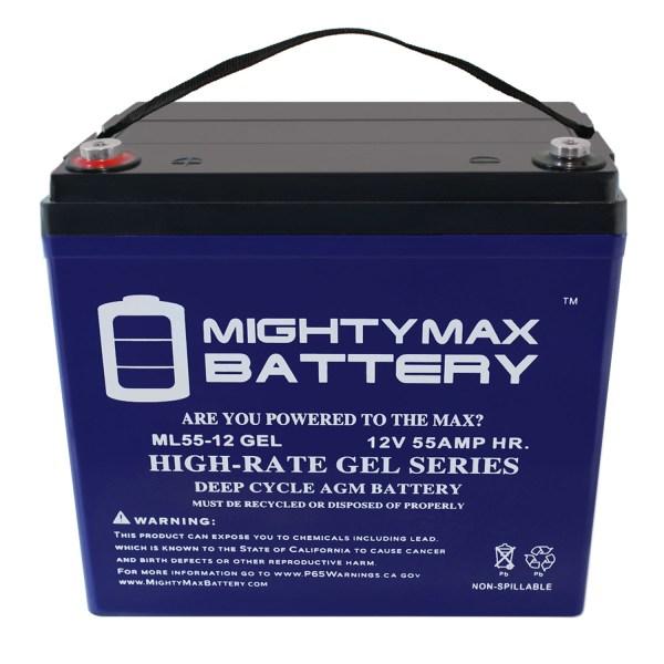 12V 55AH GEL Battery for Sunrise Medical QM 720 Power Wheelchair