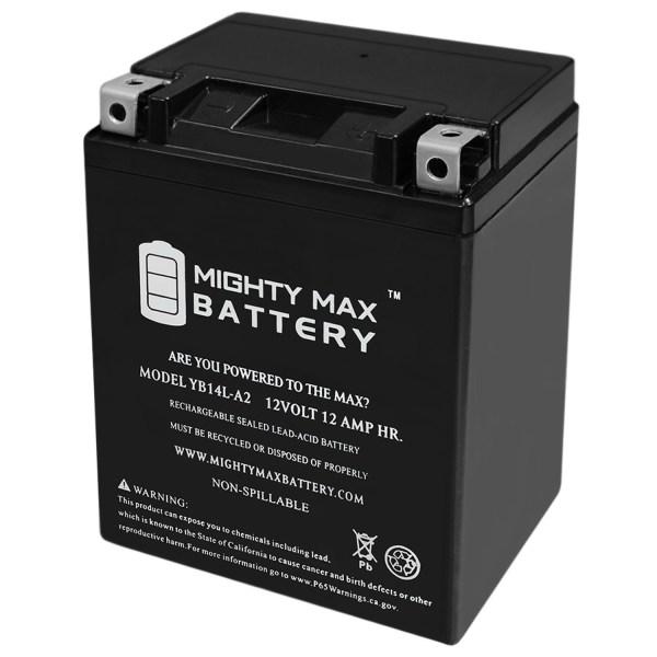 YB14L-A2 12V 12Ah Maintenance Free SLA Motorcycle Battery