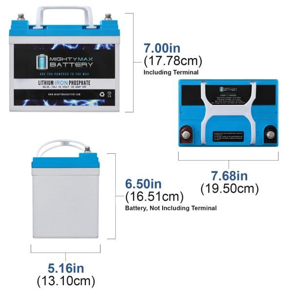 12V 35AH U1 Lithium Replacement Battery for Bat Caddy X4 Sport Golf Caddy