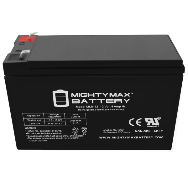 ML8-12 – 12V 8AH Battery Replaces WKA12-8 DJW12-8HD TPH12080