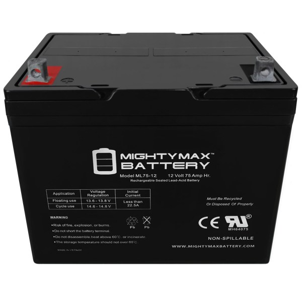 ML75-12 – 12V 75AH SLA Battery