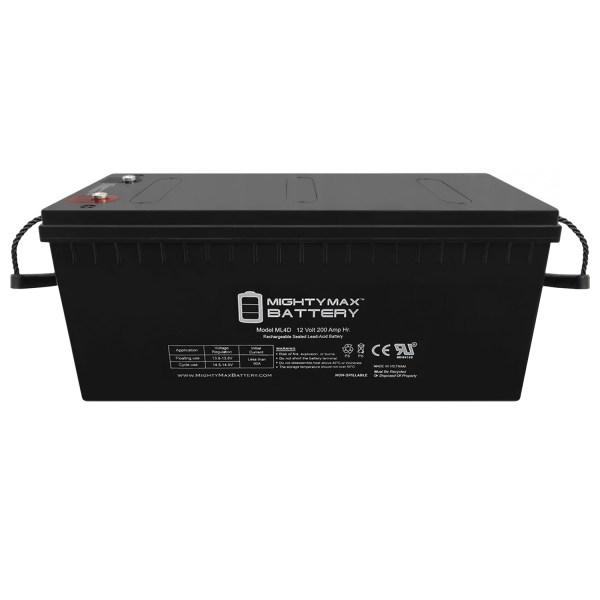 Sealed Lead-Acid Battery – AGM-type, 12V, 200 Amps