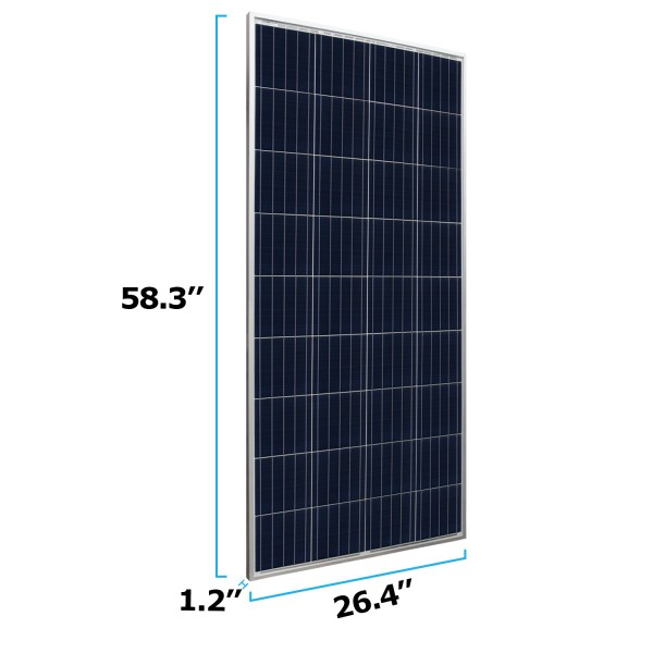 160 Watts Solar Panel 12V Poly Off Grid Battery Charger for Camping