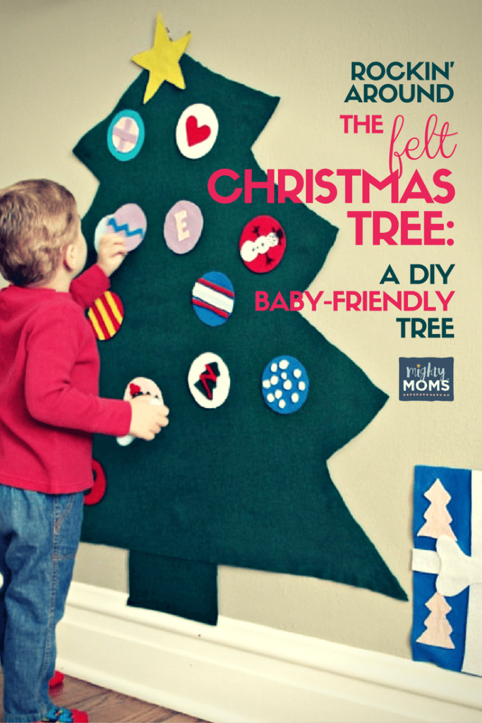 A Diy Felt Christmas Tree Your Toddler Can Tear Apart Mighty Moms