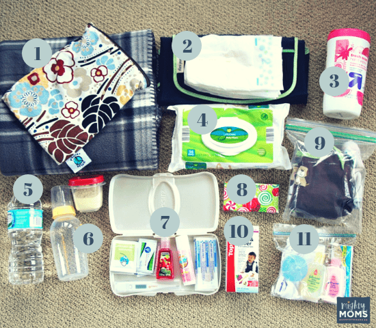 Example of an Emergency Baby Car Kit - MightyMoms.club