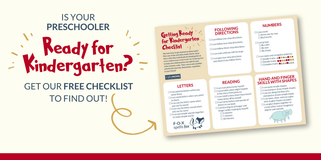 Help get your preschooler ready for Kindergarten with our free skills checklist! MightyMoms.club