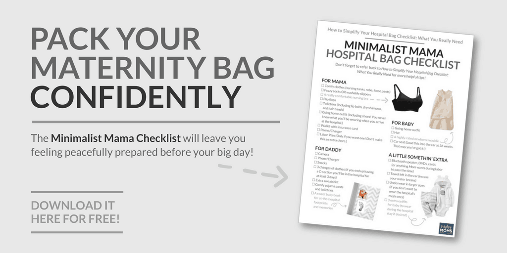 how to simplify your hospital bag checklist what you really need