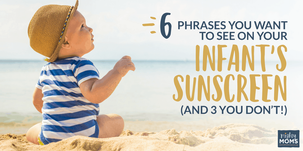 Look for this on your infant sunscreen - MightyMoms.club