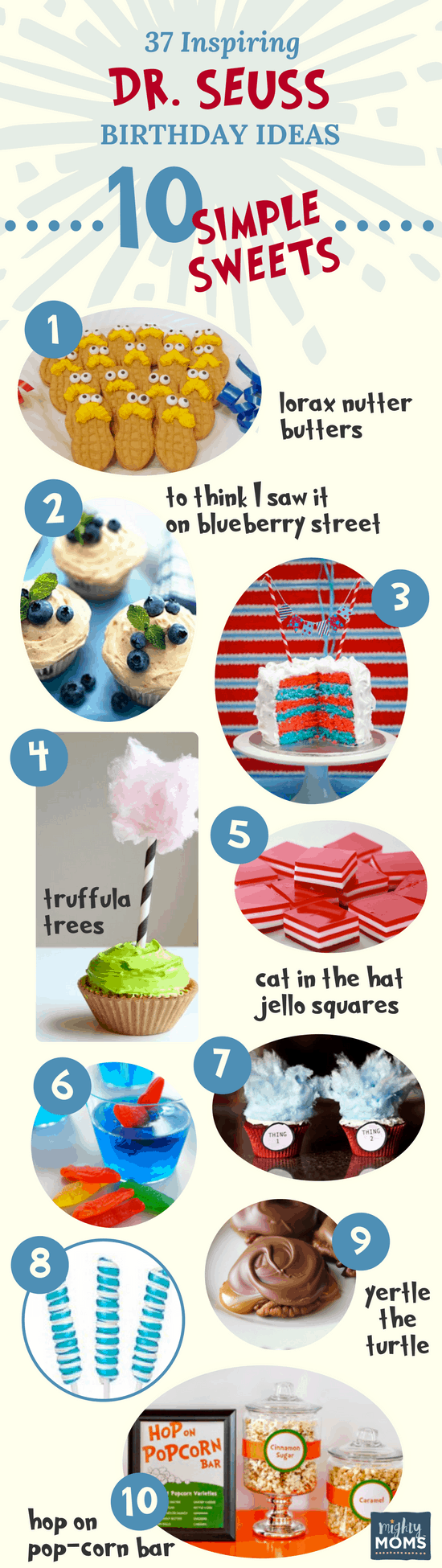 Sweets: 37 Inspiring Dr. Seuss Birthday Ideas for the Most Fantastic Party in Whoville - Mightymoms.club