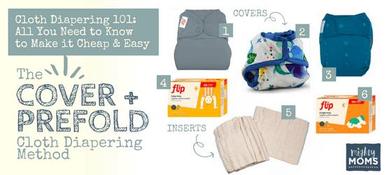 Cloth Diapering 101 - Cover & Prefold Method - MightyMoms.club