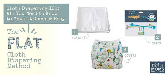 Cloth Diapering 101 - Flat Diapering Method - MightyMoms.club