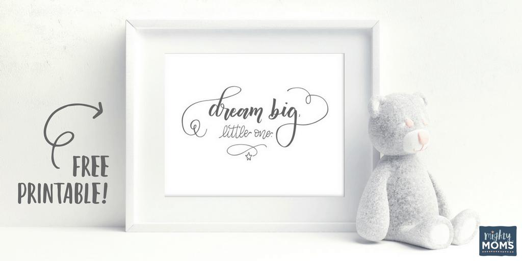 Free Nursery Print to frame and hang! MightyMoms.club