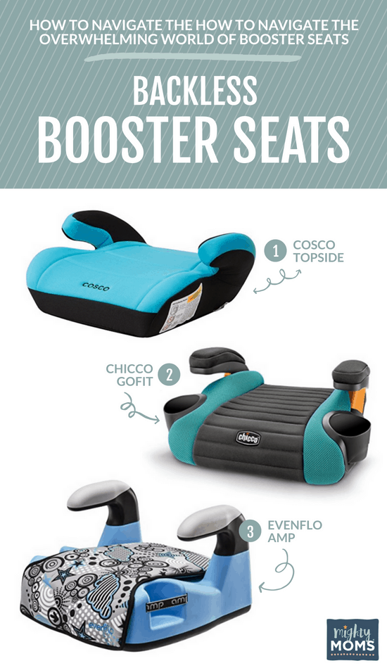 Backless Child Booster Car Seats - MightyMoms.club