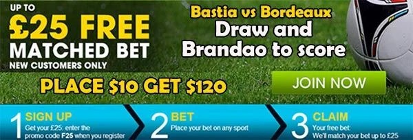 Bastia vs Bordeaux Bet