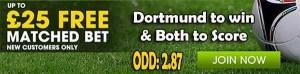 Koln vs Borussia Dortmund Bet