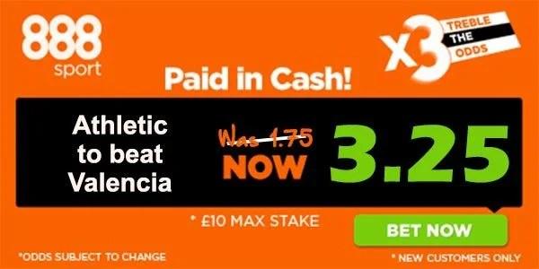 Athletic Bilbao vs Valencia Prediction and Bet