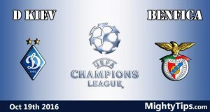 Dynamo Kiev vs Benfica Prediction and Betting Tips