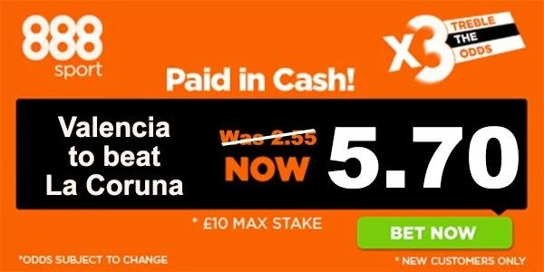 La Coruna vs Valencia Prediction and Bet